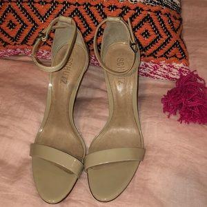 SCHUTZ nude strappy heels